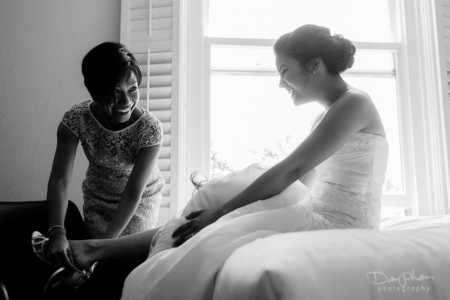 Cardinal Hotel Palo Alto Wedding Getting Ready Bride with Mother