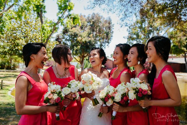 Menlo Park Wedding Photography Bride with Bridesmaids Group