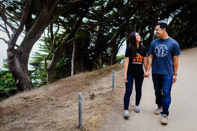 San Francisco Lands End Engagement Photography